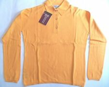 "William Lockie 2 ply cotton sports shirt long sleeved golf polo top 38"" orange"