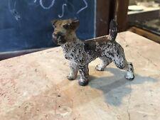 Antique Miniature Hubley Cast Iron Fox Terrier Dog Original Paint