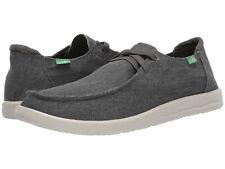 Men Sanuk Shaka Slip On Canvas 1109242 Grey 100% Authentic Brand New