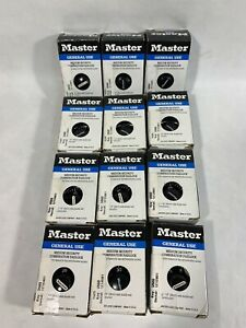 Lot of 12 Master Lock 1525 Combination Padlock School Locker Gym W/ COMBO
