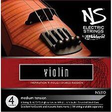 D'Addario NS Electric Violin String Set, 4/4 Scale, Medium Tension