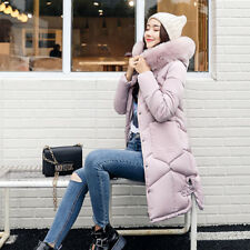 New Women's Winter Slim hooded Long Padded jacket Cotton jacket Coat Parka