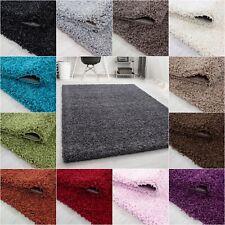 Hochflor Teppich in UNI Einfarbig Langflor Shaggy kuschelig Rechteck Wohnzimmer