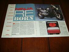 1984 KAWASAKI NINJA 900 HOT ROD - GATLIN RACING   ***ORIGINAL 1989 ARTICLE***