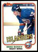 1981-82 TOPPS HOCKEY MIKE BOSSY NEW YORK ISLANDERS #4