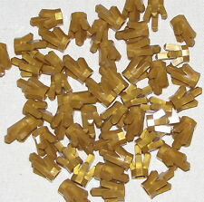 LEGO LOT OF 50 NEW METALLIC GOLD 5 POINT CRYSTALS JEMS JEWELS PARTS