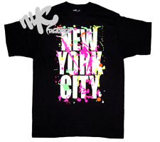 BLACK NEW YORK CITY PAINT SPLASH SPLATTER T-SHIRT 4XL