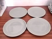 FOUR 1956 +  POOLE POTTERY TWIN-TONE ICE GREEN AND CREAM [ CAMEO] SIDE PLATES