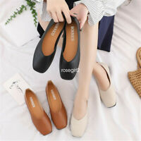 Women Ladies Leather Flats Casual Slip On Loafers Moccasins Driving Pumps Shoes
