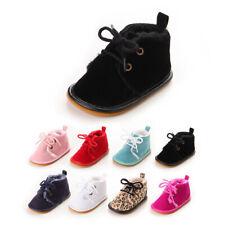 Winter Fleece Warm Soft Sole Newborn Baby Boy Girl Crib Shoes Toddler Prewalker