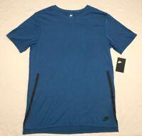 Men's Nike Droptail Mesh Back Bonded Workout Tee Blue 847507-457