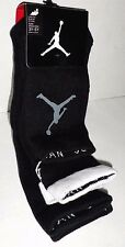 NIKE AIR JORDAN 3 PAIR Jumpman Black Low Quarter Crew SOCKS Boys 7-9 Shoe 3Y-5Y