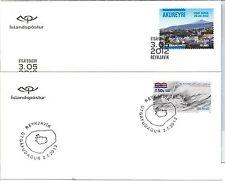 58170 - ISLAND Iceland - POSTAL HISTORY: 2012 set of 10 FDC COVERS - BIRDS sport