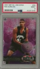 1997-98 Metal Universe Tim Duncan Rc #66 San Antonio Spurs Rookie PSA 9 Mint
