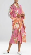 """NEW! N NATORI EXQUISITE """"PAINTED BOUQUET"""" PINK FLORAL ROBE/ Extra Large"""