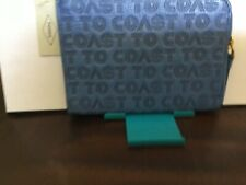 New Womens Fossil Brand RFID Passport Wristlet Crystal Blue Color NWT $64