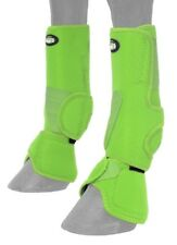 Horse Protective Sport & Bell Boots Combination in 1 - Vented - Neon Green - Med