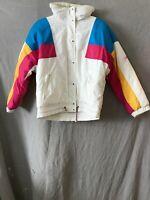 Slalom Womens White Stromwatch Goretex Full Zip Down Puffer Jacket Size 10