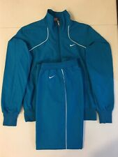 Nike Women's Mesh Lined Tracksuit Wind Training Blue White Size M 399831