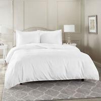 Duvet Cover Set Soft Brushed Comforter Cover W/Pillow Sham, White - Cal King