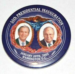 2005 INAUGURATION GEORGE BUSH DICK CHENEY campaign pin pinback button president