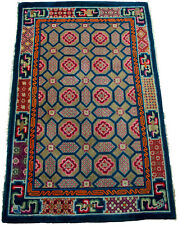 China Teppich Antik 190cm x 120 cm  Wolle auf Baumwolle Carpet, Tapetto antico