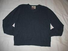 Old Navy Sweater Sz L Large Pullover Blue V-Neck Wool Blend Mens