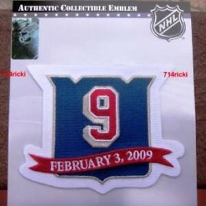 Official NHL Adam Graves New York Rangers #9 Jersey Retirement Night Patch