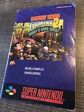 Notice de jeu Nintendo super Nes FR originale Donkey Kong Country 2 SNES Manuel