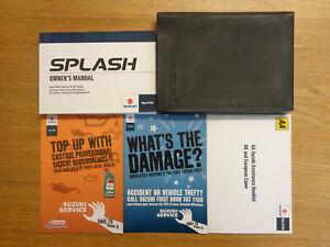 Suzuki Splash Owners Handbook/Manual and Wallet 08-13