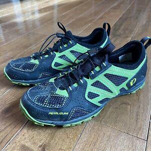 Mens Pearl Izumi X-Alp Drift IV MTB Cycling Shoes Clipless Black Green Sz 45/ 11