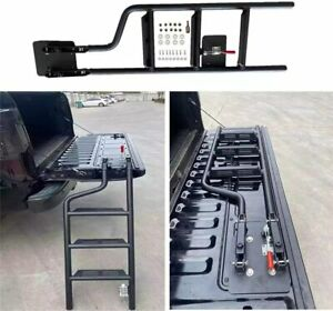 Pickup Truck Step Tailgate Stairs Ladder Cargo Fit for Ford Super Duty 2008-2020