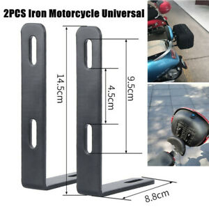 2X Motorcycle Trunk Bracket Back Support Refitting Tail box Storage Rack Durable