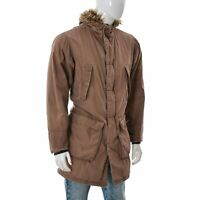 Ben Sherman Vintage Mens Winter Cargo Hooded Fur Parka Coat Jacket SIZE Medium