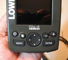 LOWRANCE ELITE 4 CHIRP FINDER/GPS. VERY NICE. NO TRANSPONDER.