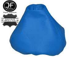BLUE LEATHER MANUAL GEAR STICK GAITER SHIFT BOOT FOR FIAT 500 ABARTH 2007-2015
