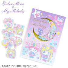 NEW JAPAN Collaboration Sailor Moon Sanrio My Melody Flake  Sticker Seal Kawaii
