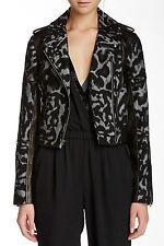 DVF Theodora Leo Leather Jacket Diane von Furstenberg Moto Jacket, Sz 2 NEW!