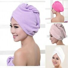 Quick Drying Women's Microfiber Bath Towel Hair Dry Hat Cap Lady Bath Tool HOT