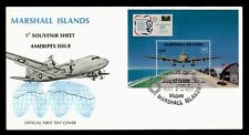 DR WHO 1986 MARSHALL ISLANDS US ARMY PLANE S/S FDC AMERIPEX C173197