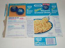 1984 Kraft Macaroni & Cheese Box w/ Duncan Imperial Yo-yo premium offer