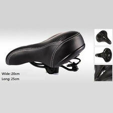 Thicken wide Bicycle Bike Seat Saddle Cycling MTB soft Cushion Black with Hole
