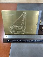 Side Boom Crane Master Template Brass Engraving Plate For New Hermes Font Tray