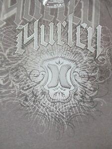 HURLEY - Surf Gang - Tribal Design - M Grau T-Shirt - C1618