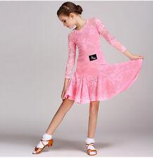 2017 Childrens Latin Salsa Ballroom Dance Dress Girls Dancewear Costumes FY1028