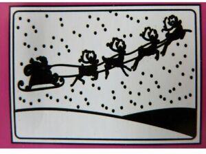 Crafts-Too CTFD4011 C6 Embossing Folder Santas Sleigh Reindeer Christmas