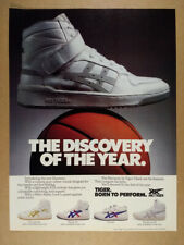 1985 Asics Tiger Discovery Hi-Top Basketball Shoes vintage print Ad