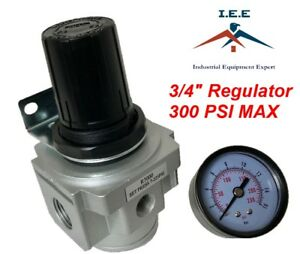 "New R706N 3/4"" Air Compressor Regulator with Pressure Gauge"