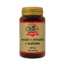 Reishi Shitake Maitake 300 mg 90 cápsulas OBIRE