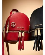 MICHAEL KORS RHEA MINI RED LEATHER BACKPACK RRP £250